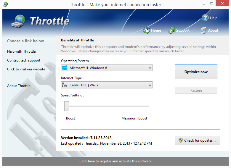 Click to view Throttle 6.11.3.2008a screenshot